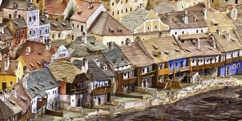 Keramický model města Č. Krumlov