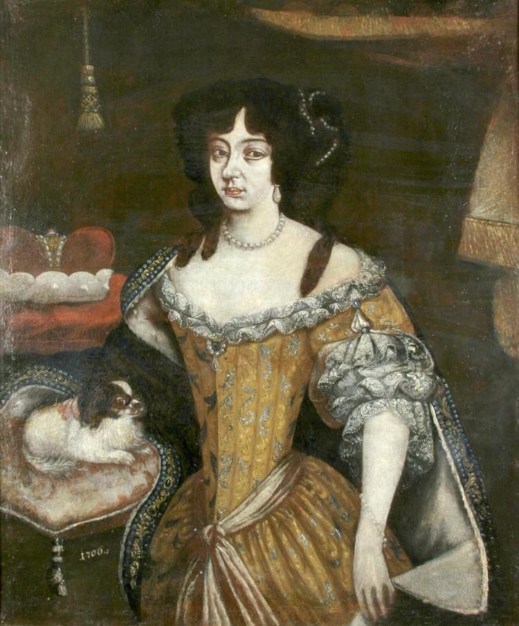 Portrét kněžny Marie Arnoštky z Eggenberku  rozené ze Schwarzenberku (1649-1719)  Kopie dle de Weerle, 1706 (olejomalba na plátně)