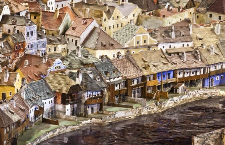 Keramický model města Český Krumlov
