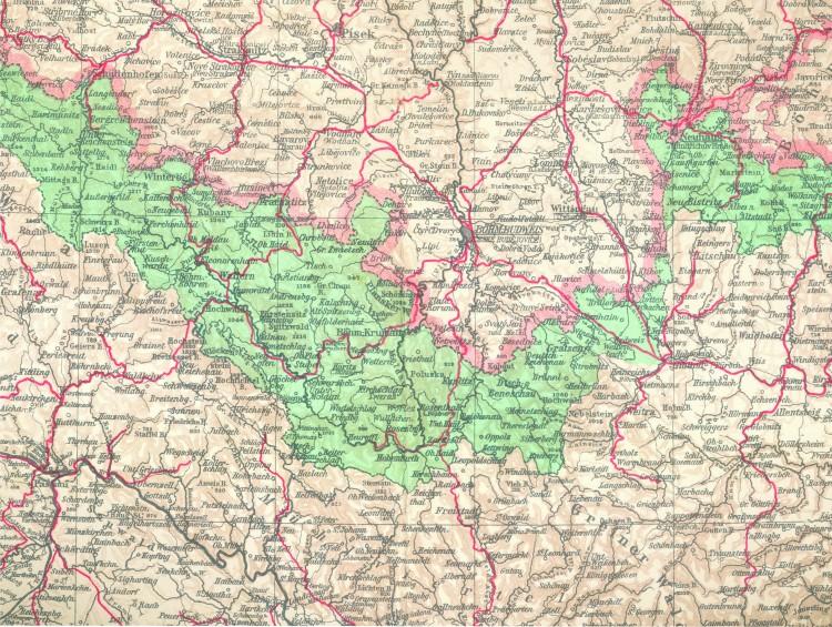 9_Mapa tzv. Šumavské župy_1940