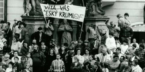 29.5.1990 návštěva prezidenta V. Havla v Českém Krumlově