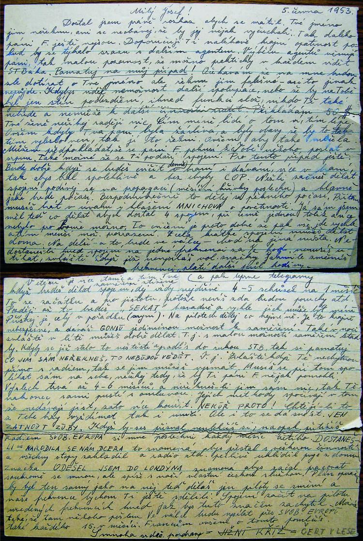 13. Dopis Jana Krále s instrukcemi pro Josefa Krnínského.