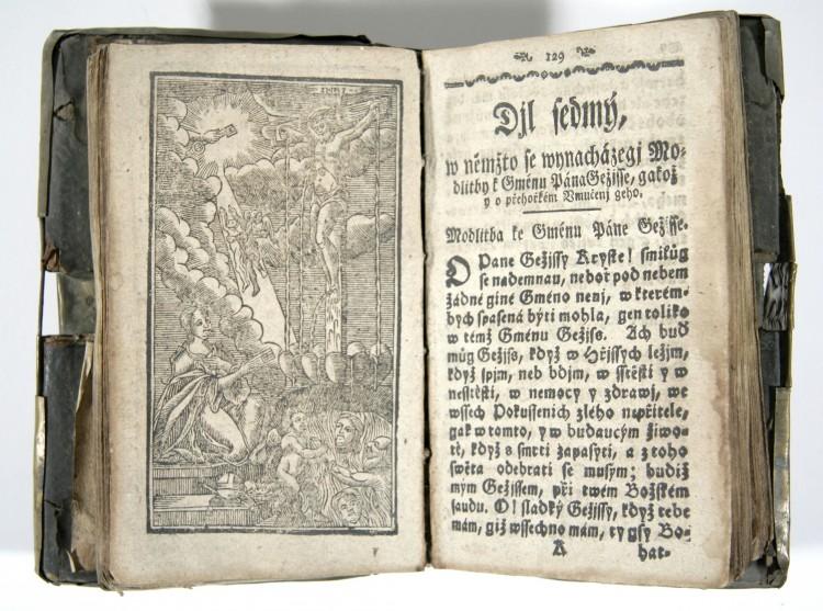 Nebeklíč, český tisk, Křemže, 18. století.