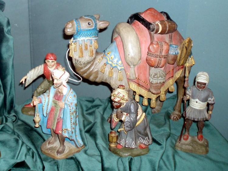 Část betlému Karla Kroba - Tři králové.