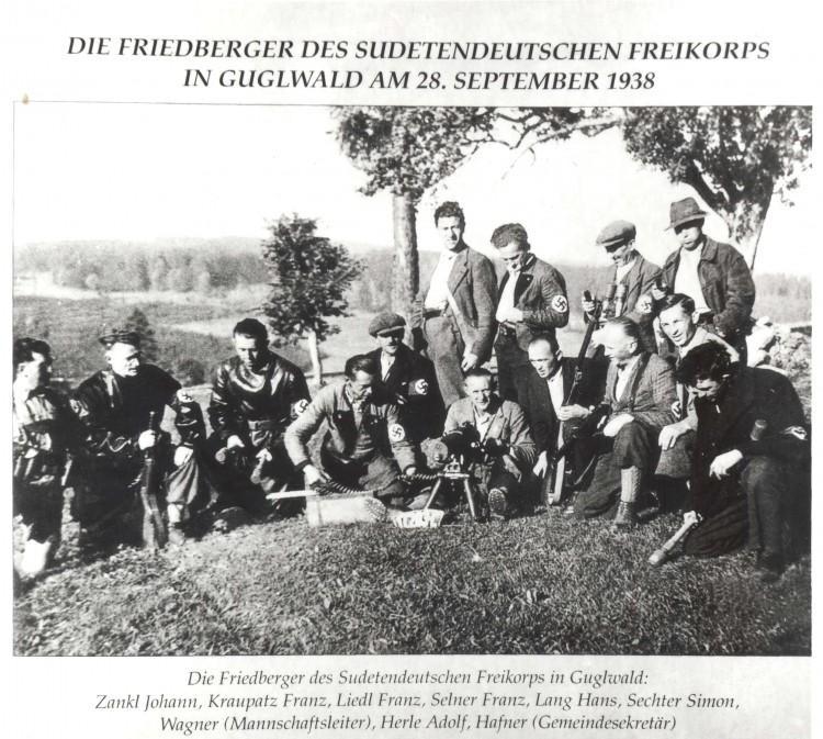 Ozbrojený sudetoněmecký Freikorps, Frymburk - Guglwald