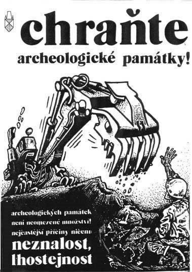 Plakát - chraňte archeologické památky